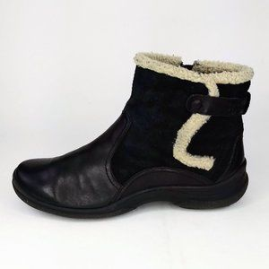 Clarks Black Leather Winter Ankle Boots 7.5M